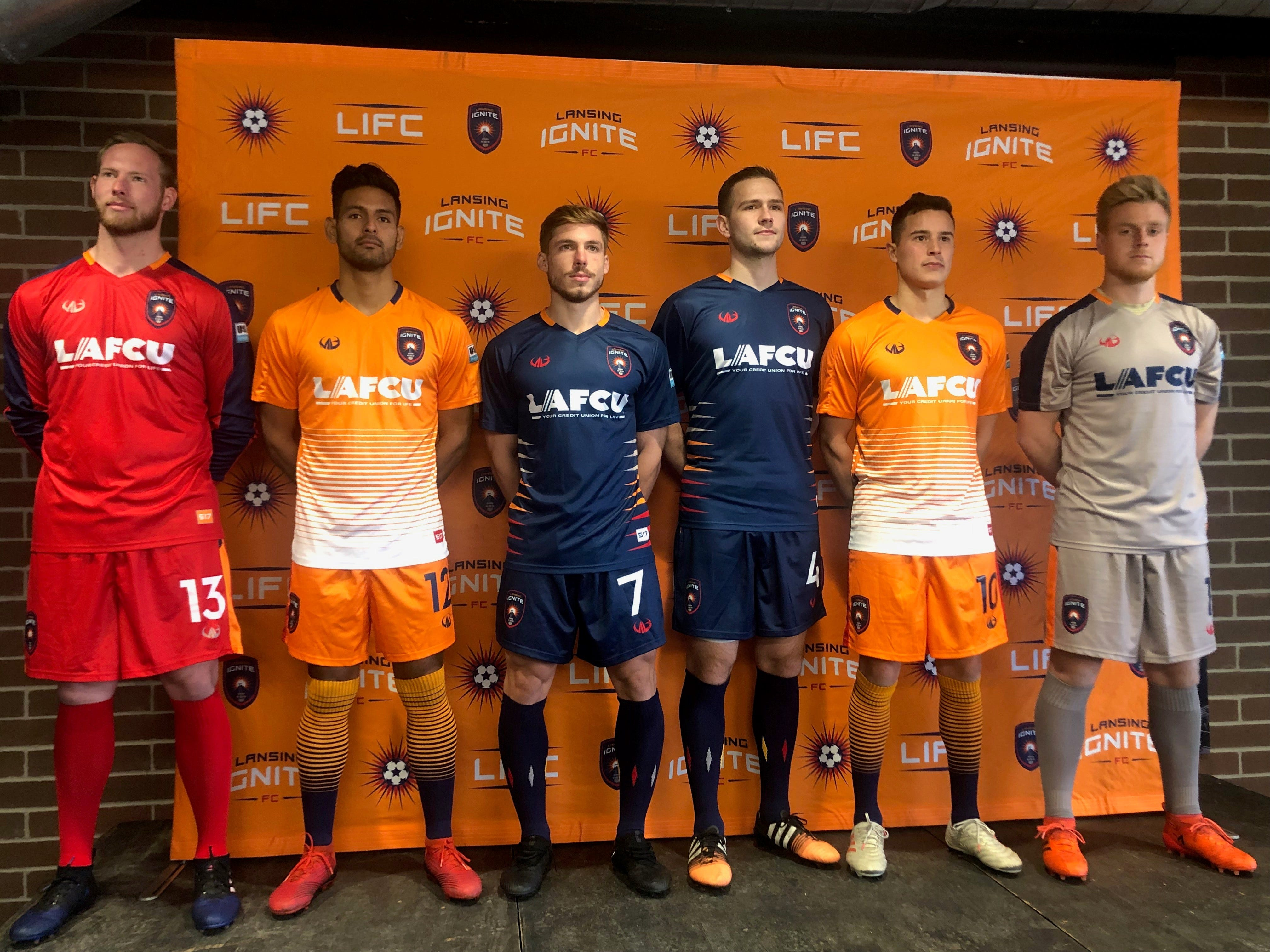 Lansing Ignite FC reveals jerseys for inaugural season in USL League One:  Video