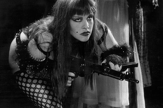 "Kerine Elkins is a denizen of futuristic ""Femphis"" in Mike McCarthy's ""SUPERSTARLET A.D."""