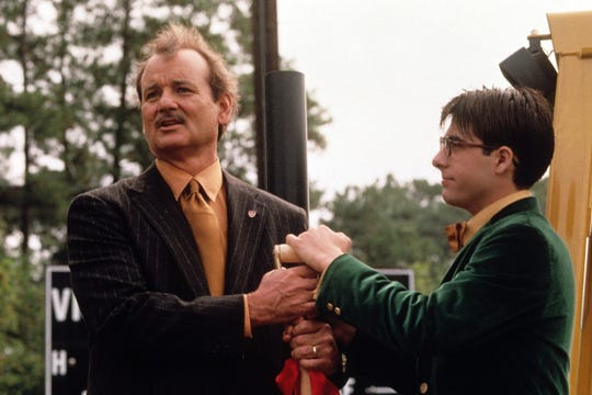"""Bill Murray (left) and Jason Schwartzman play an alumnus and student at a private prep school who form an unexpected bond in Wes Anderson's 1999 movie """"Rushmore."""""""