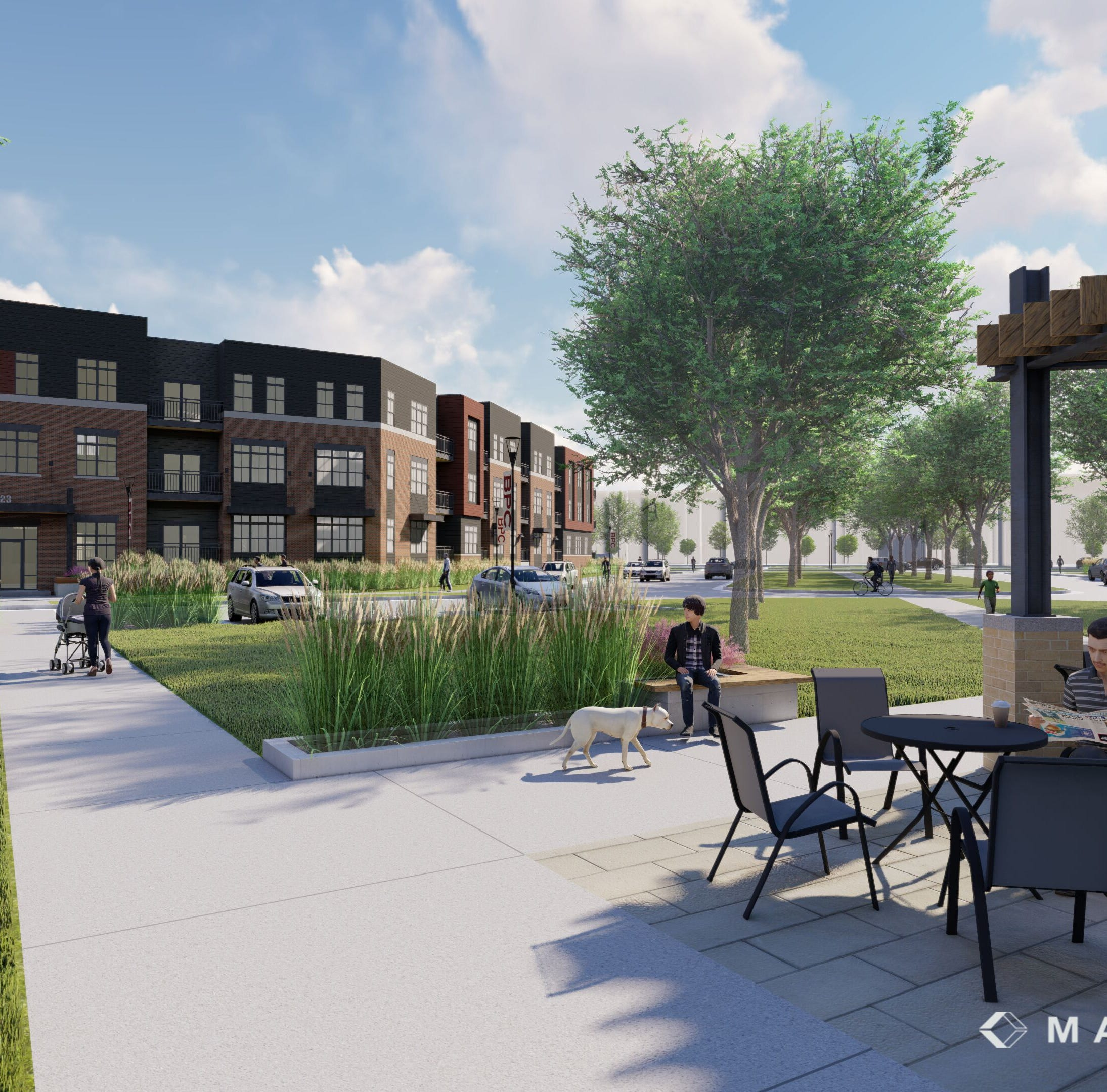 Franklin will pay $19.4 million to help finance high-end apartments at its Ballpark Commons development