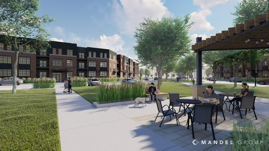 Velo Village is the name of the apartments planned for Franklin's Ballpark Commons mixed-use development.