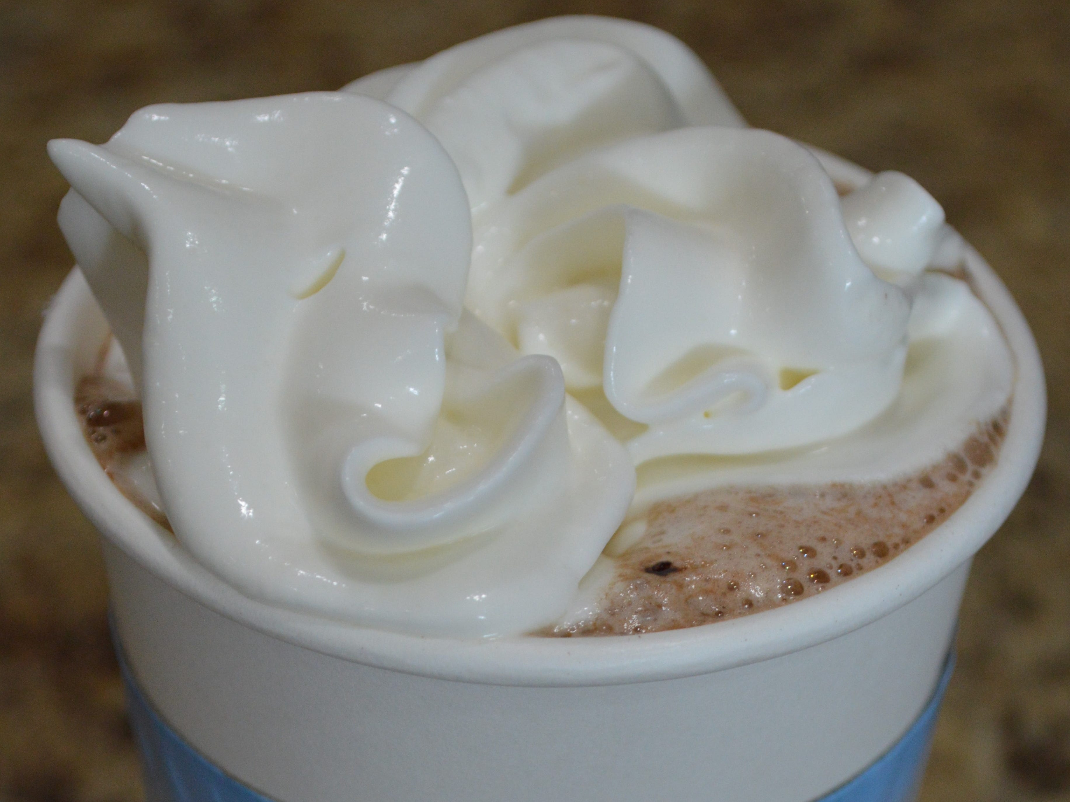 Broad Street Coffee Co. serves hot chocolate made byGhirardelli.