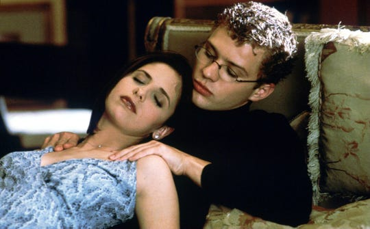 "Sarah Michelle Gellar and Ryan Phillippe star in ""Cruel Intentions,"" a modern-day redo of the 18th-century novel ""Les Liaisons Dangereuses."" The 1999 movie is getting a week-long rerelease in theaters for its 20th anniversary."