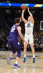 Marquette forward Joey Hauser shot 43.3 percent from three-point range.