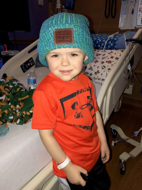 Lincoln Maziasz poses in his Love your Melon hat.