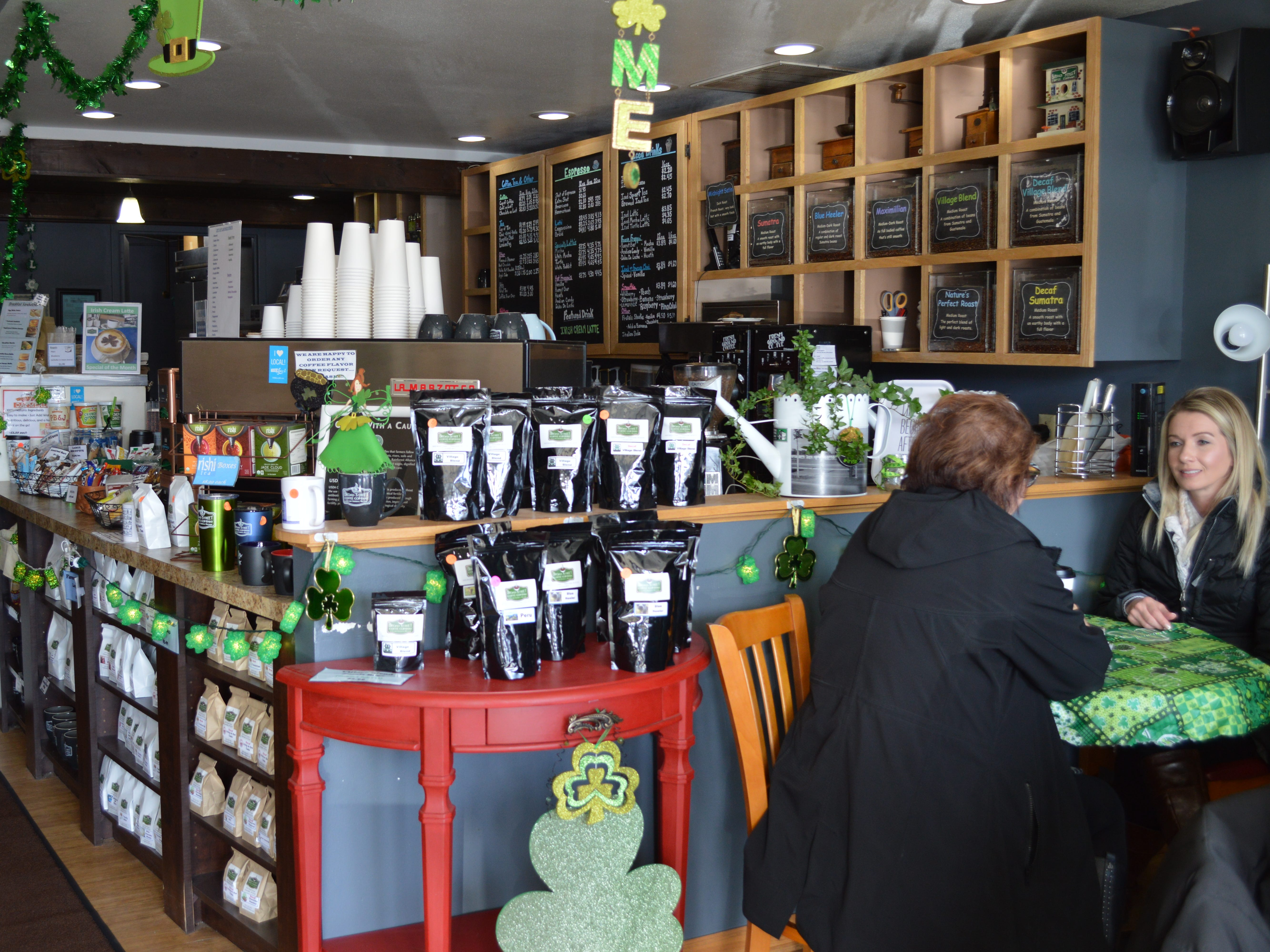 Every weekday morning, a group of about 30 locals meet at Broad Street Coffee Co. in Greendale.