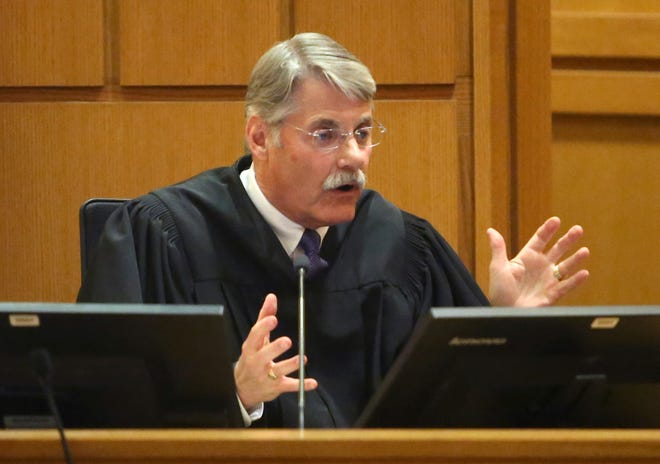 Dane County Circuit Judge Richard Niess speaks during 2018 court hearing.