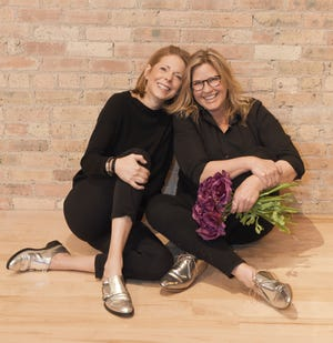 Terrain, a European-style flower and gift market coming to Mequon's Spur 16 development, is a collaboration between Elements East owner Meg Hopkins (left) and Vicki Kunz, owner of La Tulipe floral design.
