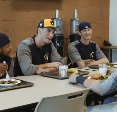 Brent Suter channels Regina George as the Brewers deliver another brilliant movie spoof of 'Mean Girls'