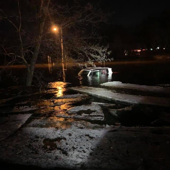 Drunk driver ignores road closed signs and drives on flooded Saukville highway, police say