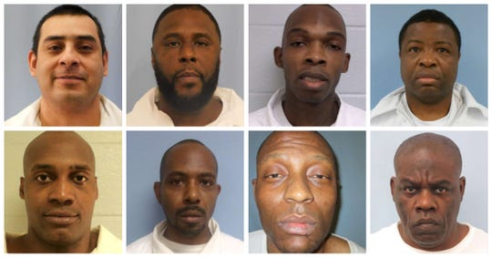 Eight Holman inmates have gone on hunger strike, according to advocacy organizations Unheard Voices and Fight Toxic Prisons (from top left to bottom right): Mario Avila, Antonio Jackson Jr., Corey Burroughs, Earl Manassa, Kotoni Tellis, Tyree Cochran, Marcus Lee, and Earl Taylor.