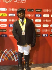 Joseph Bradley won a bronze medal in the English Working Trails event in the 2019 Special Olympics World Games in Abu Dhabi.