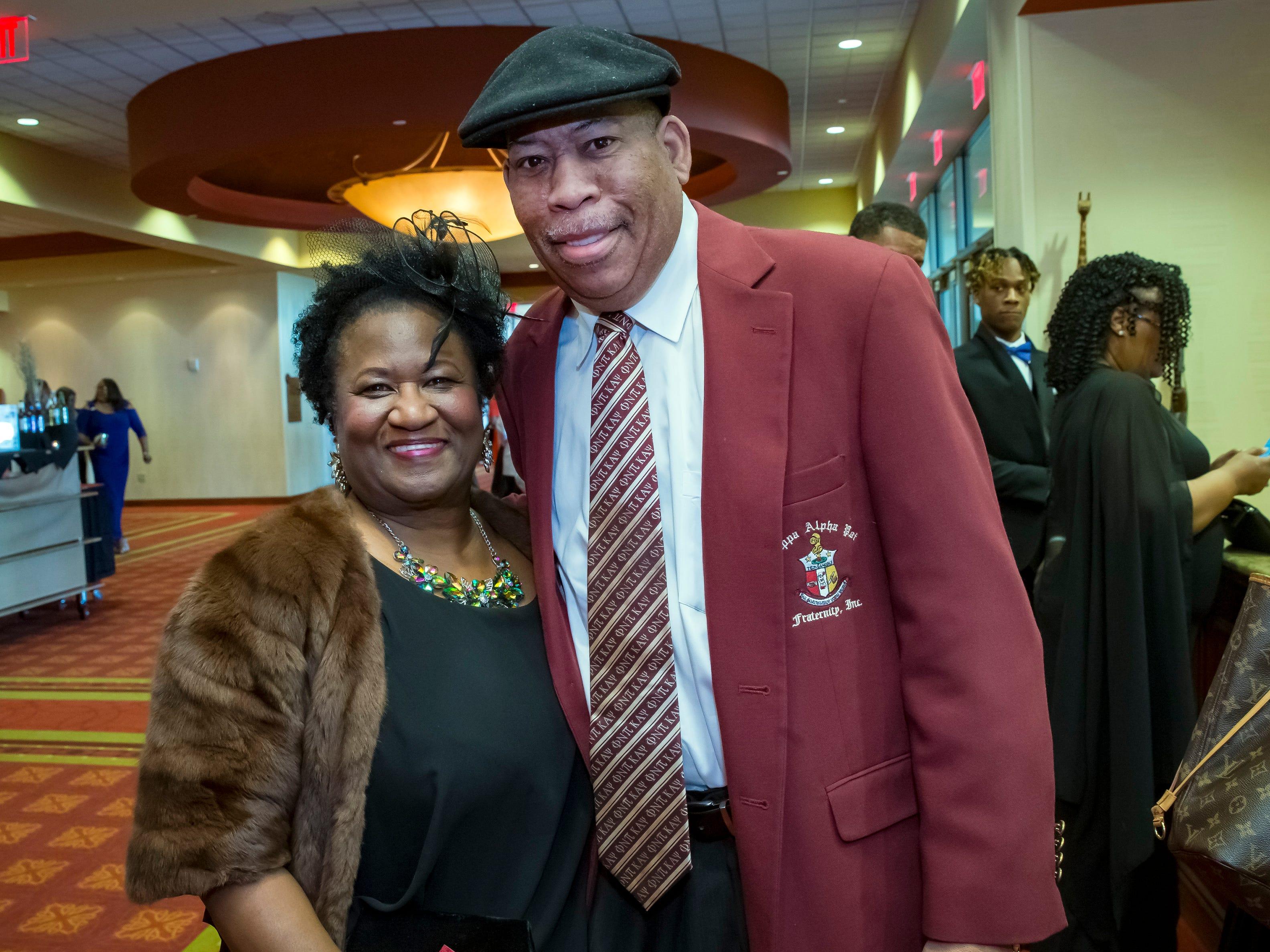 Phyllis and Ron Washington at the Murfreesboro Alumni Chapter of Kappa Alpha Psi Fraternity Beautillion held at Embassy Suites.