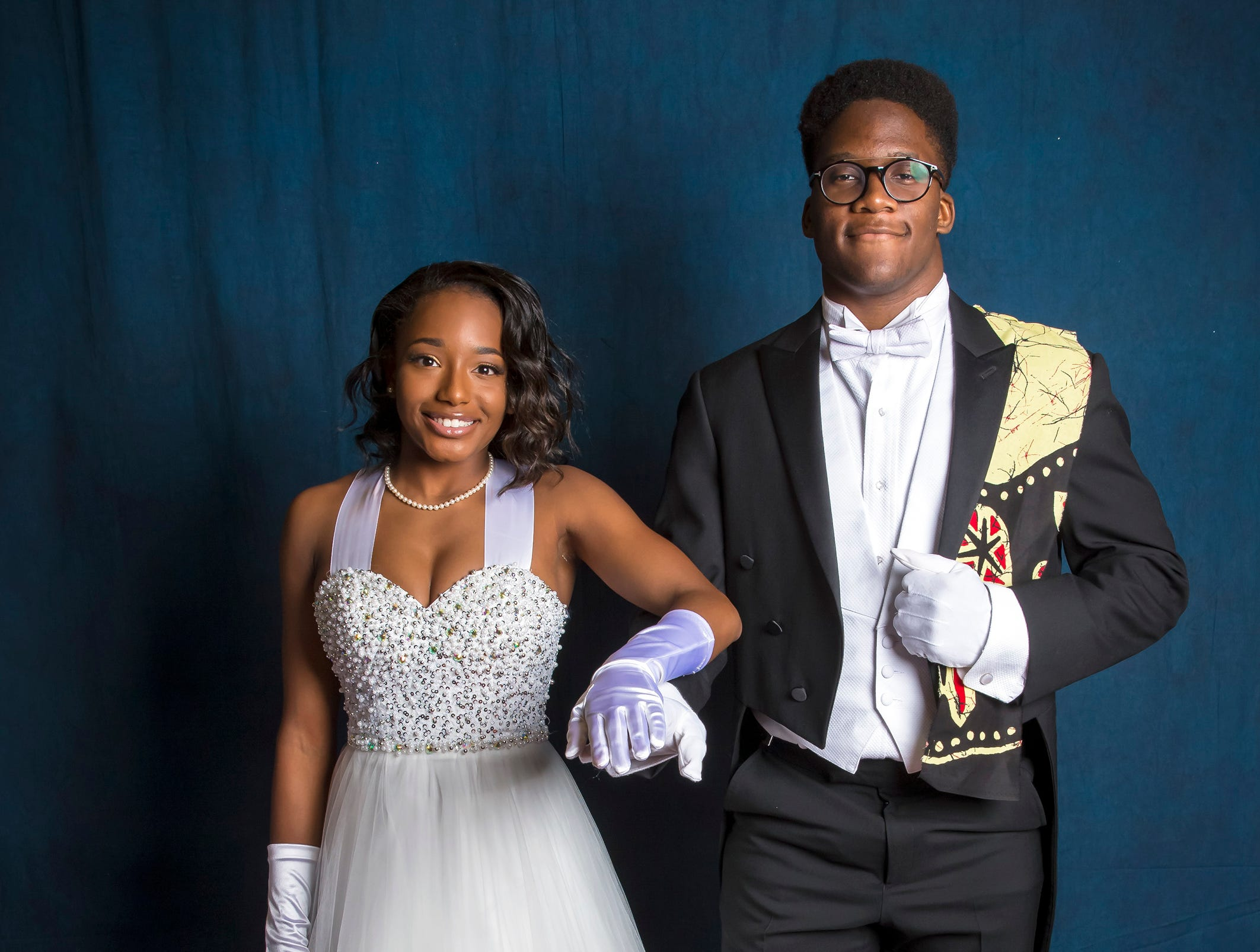Kennedy Spicer and Kanayo Offodile at the Murfreesboro Alumni Chapter of Kappa Alpha Psi Fraternity Beautillion held at Embassy Suites.