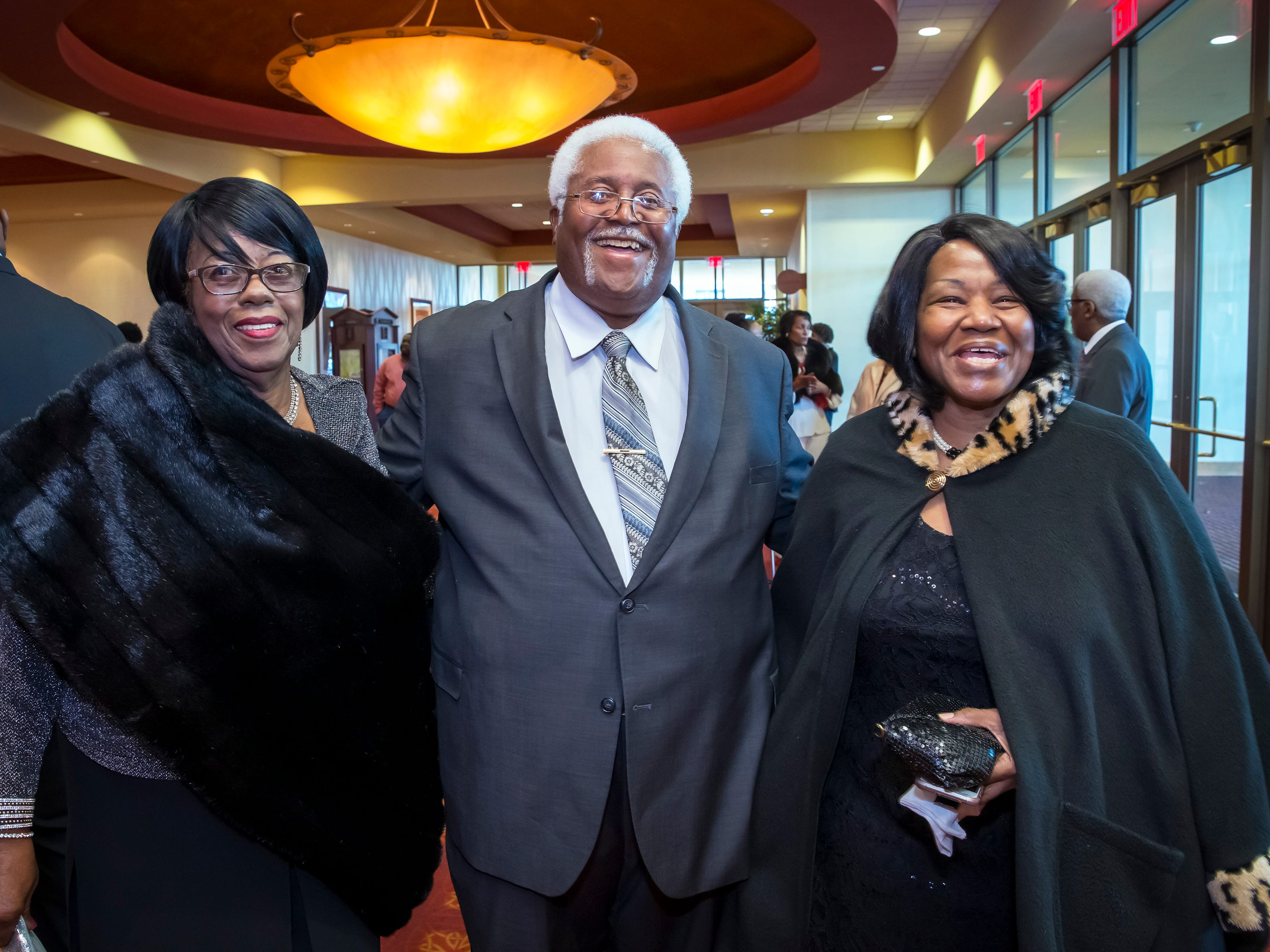 Ernestine Floyd, Goldy Wade and Benita Ivy at the Murfreesboro Alumni Chapter of Kappa Alpha Psi Fraternity Beautillion held at Embassy Suites.