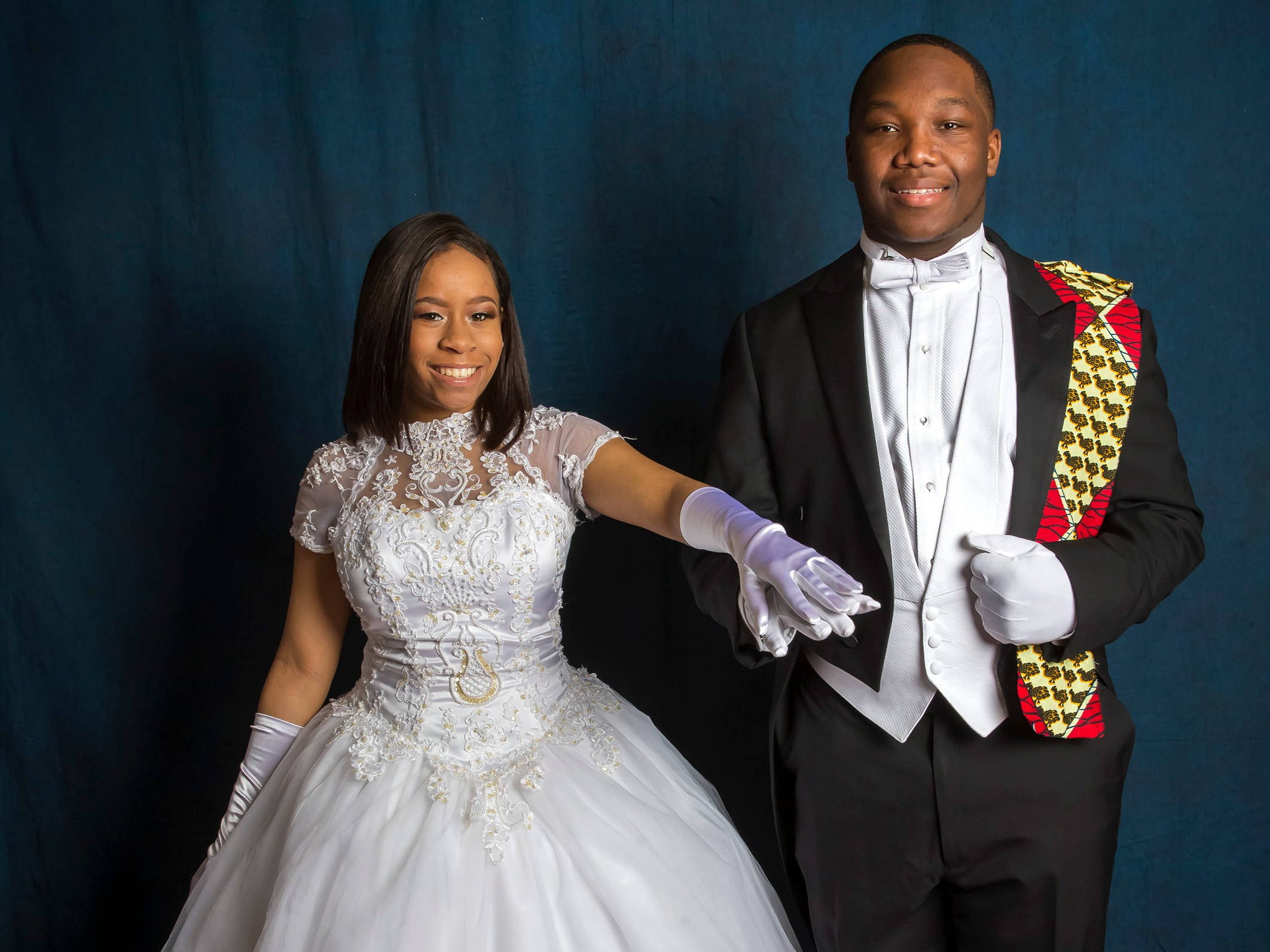Courtney Marks and Isaac Buford at the Murfreesboro Alumni Chapter of Kappa Alpha Psi Fraternity Beautillion held at Embassy Suites.