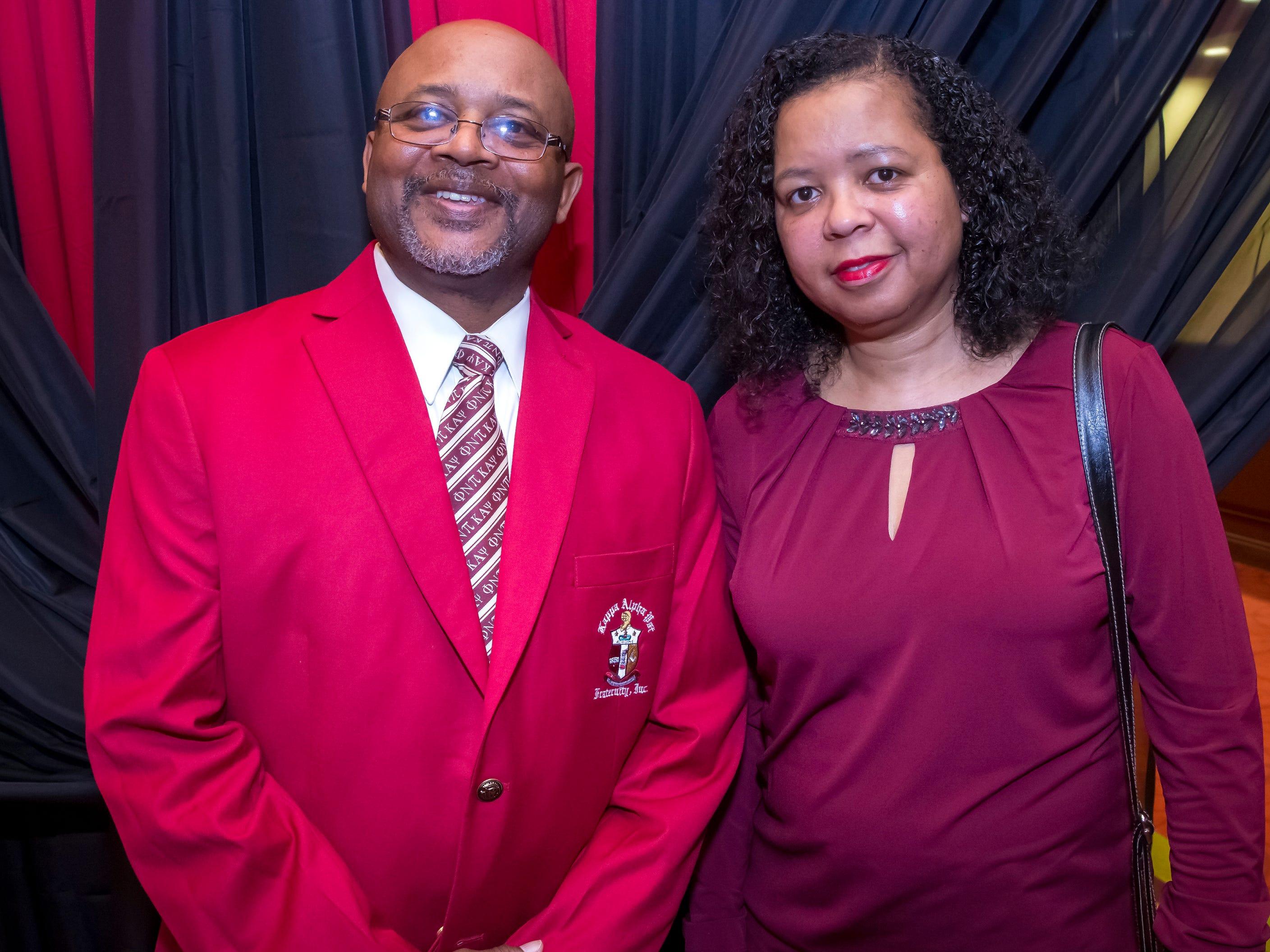 James and Marsha Robb at the Murfreesboro Alumni Chapter of Kappa Alpha Psi Fraternity Beautillion held at Embassy Suites.