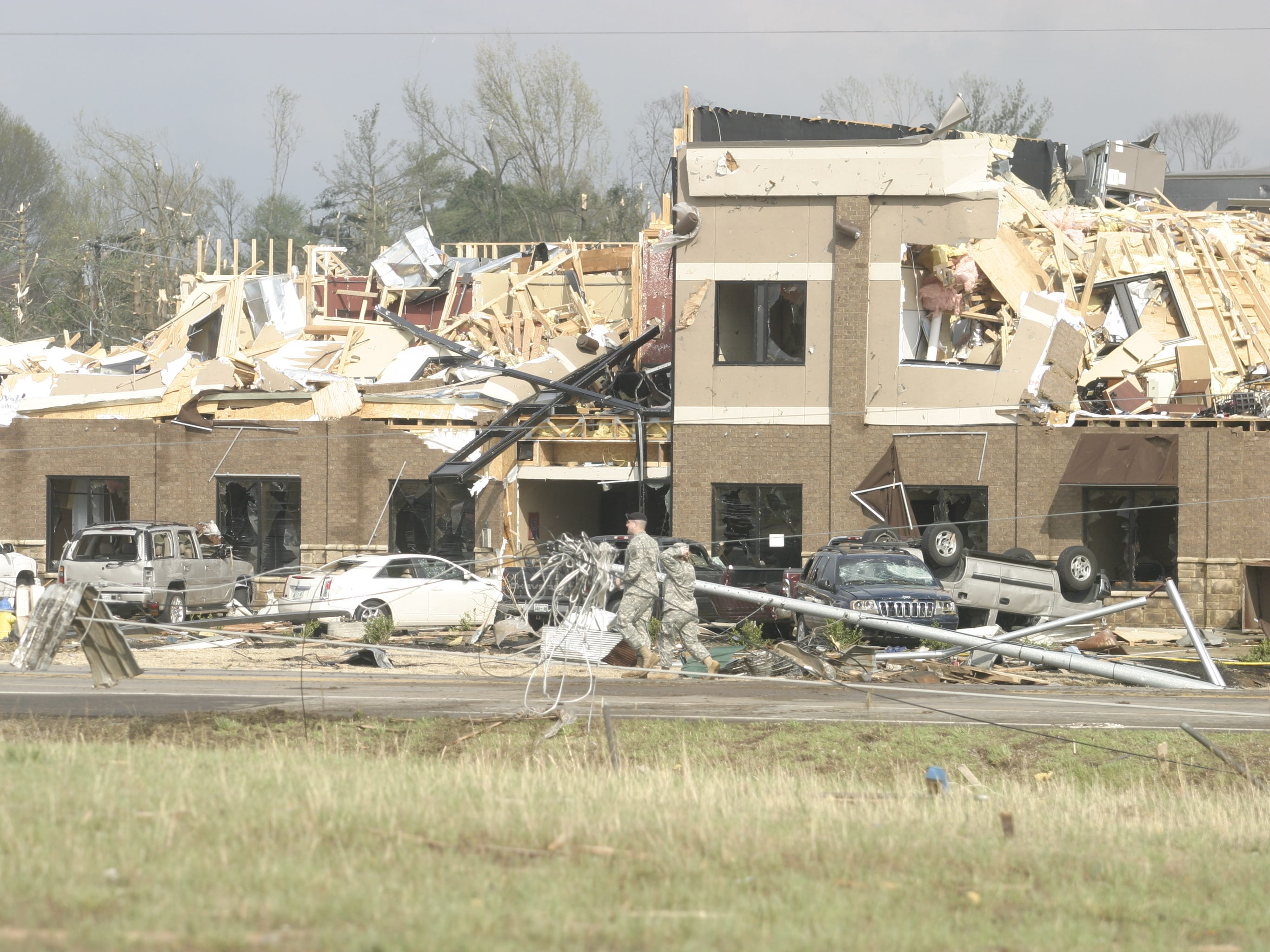 Businesses on Thompson Lane, Murfreesboro sustained significant damage form Friday's twister