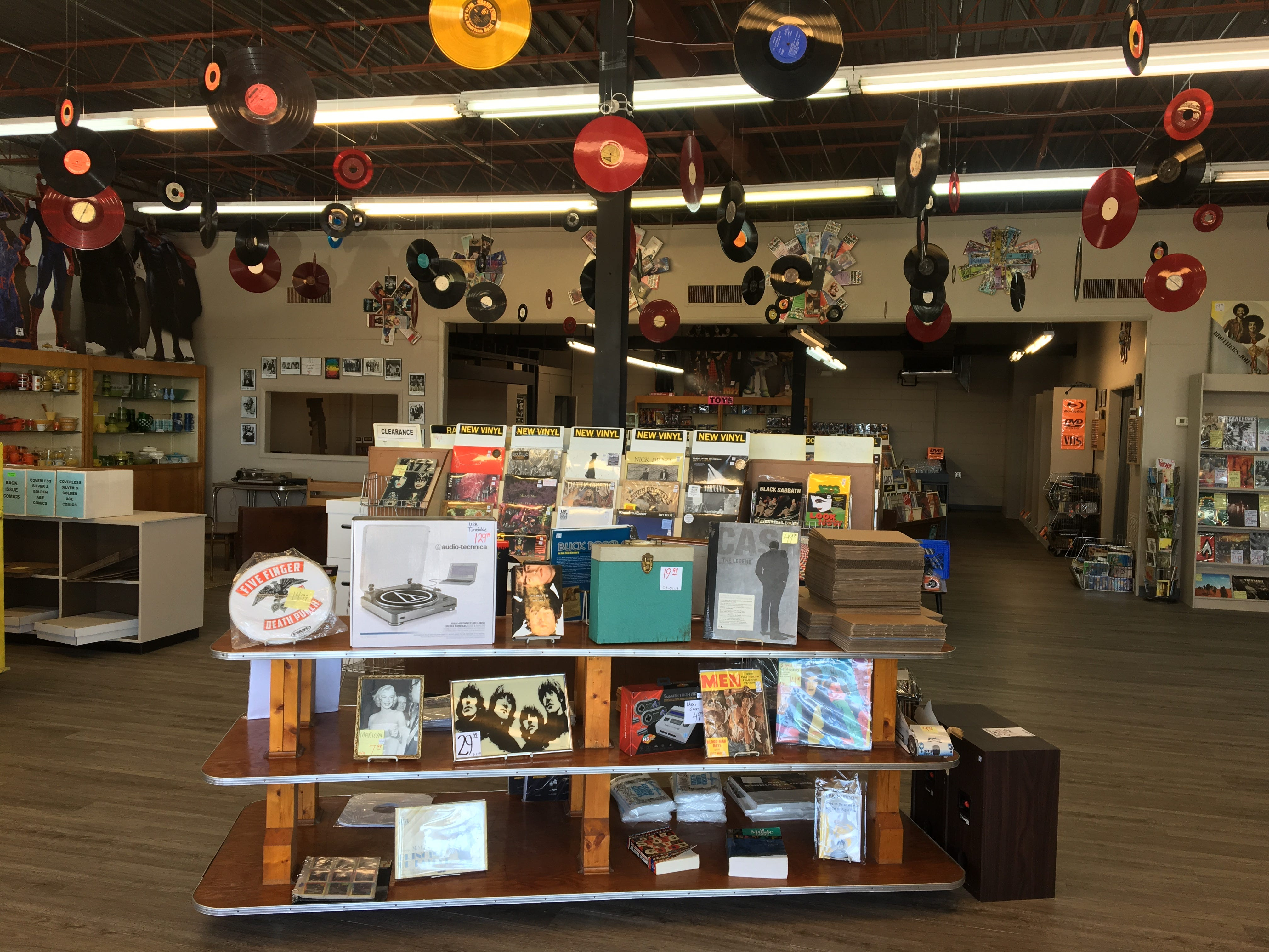 The Great Escape, at 810 N.W. Broad St. in Murfreesboro, is a media store that buys and sells used, new, collectible and out-of-print vinyl records, DVDs, comic books, games, CDs and other items.
