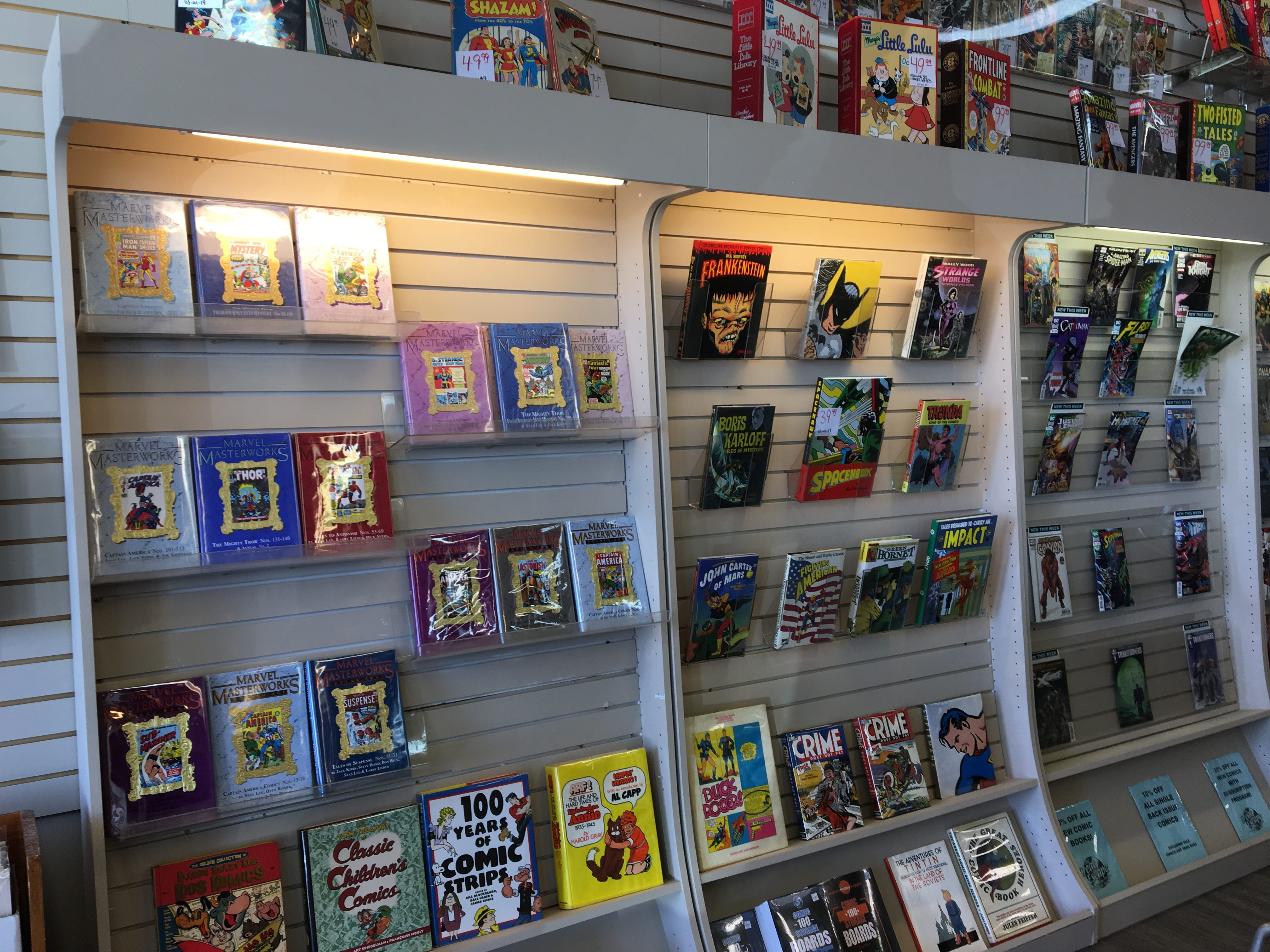 The Great Escape, now located at 810 N.W. Broad St. in Murfreesboro, is a media store that buys and sells used, new, collectible and out-of-print vinyl records, DVDs, comic books, games, CDs and other items.