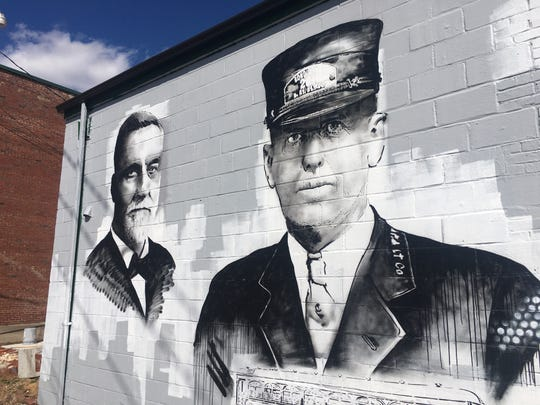 This mural by Bryan Deese in downtown Gallatin reflects the city's history.