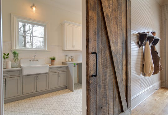 The home at 501 Murfreesboro Road in Franklin has been completely renovated and updated with luxury baths and other modern touches.