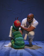 """DeYonte Jenkins performs in Nashville Children's Theatre's production of """"The Very Hungry Caterpillar Show."""""""