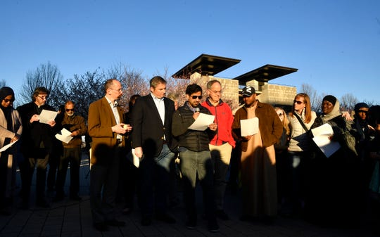 Members of Nashville's faith community joined together to read the names of those killed in the New Zealand shootings.
