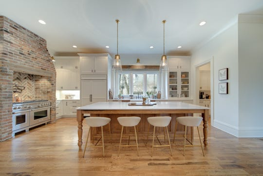 The home was renovated down to the studs to create a spacious, open floor plan.