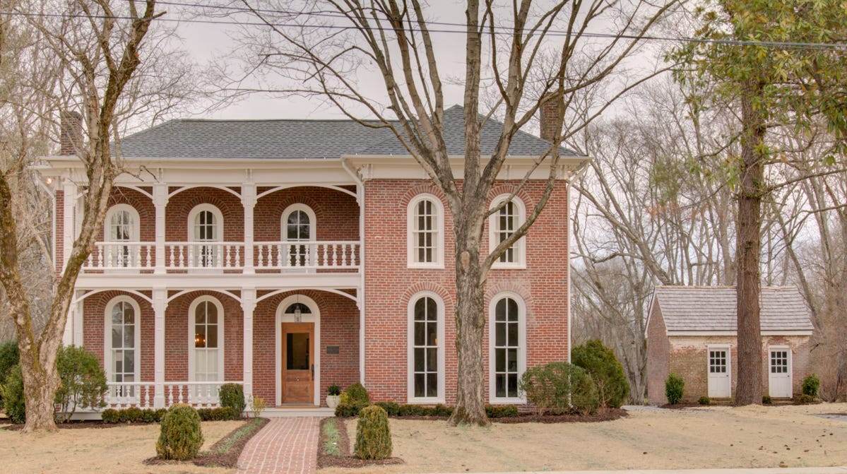 Garden Gate Homes meticulously restored this 1870 home at 501 Murfreesboro Road in Franklin, preserving its history while making it current and liveable. It is listed for $2.5 million by Lisa Culp Taylor, LCT Team – Parks and Parks Realty Broker Danny Anderson.