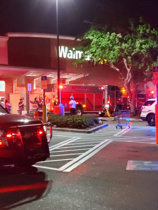 The Walmart at Immokalee and U.S. 41 in North Naples was evacuated around 10 p.m. Sunday, March 17, 2019, due to a possible fire in the store, an employee said.