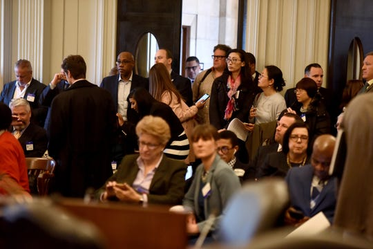 The Assembly Appropriations Committee hearing is underway, where lawmakers have votes planned to advance marijuana legalization. It was standing room only as the hearing gaveled in on Monday, March 18 2019 at the New Jersey State House in Trenton.