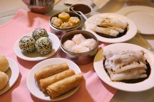 A large selection of dim sum at Noodle Wong.