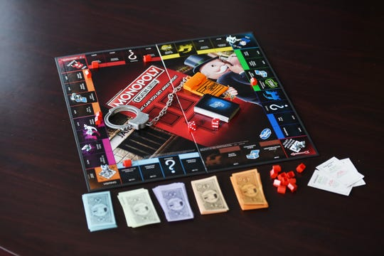 """Photo of the new Monopoly """"cheater's edition, photographed in Woodland Park on 03/18/19."""