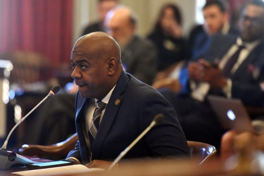 Newark Mayor Ras Baraka testifies in March at the New Jersey State House in Trenton.