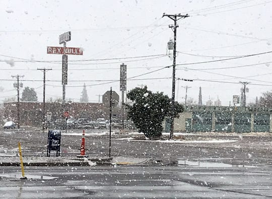 Deming and Luna County residents woke up to snow falling on Saturday during the morning hours. Temperatures were not cold enough to allow the snow to stick. By the afternoon hours the snow had disappeared.