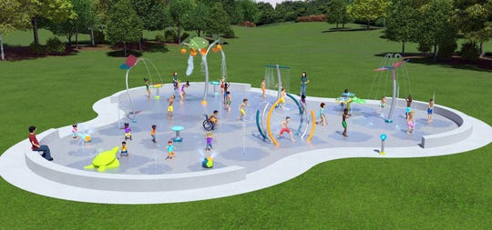 The City of Deming is working on construction of a splash pad for outdoor water recreation at the corner of Spruce and Eighth streets.