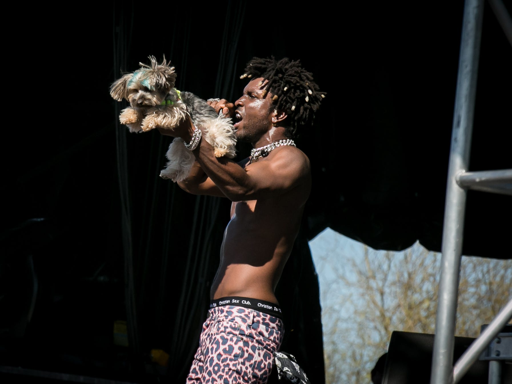 Saint Jhn performs at Pot of Gold Music Festival at Steele Indian School Park in Phoenix on Sunday, March 17.