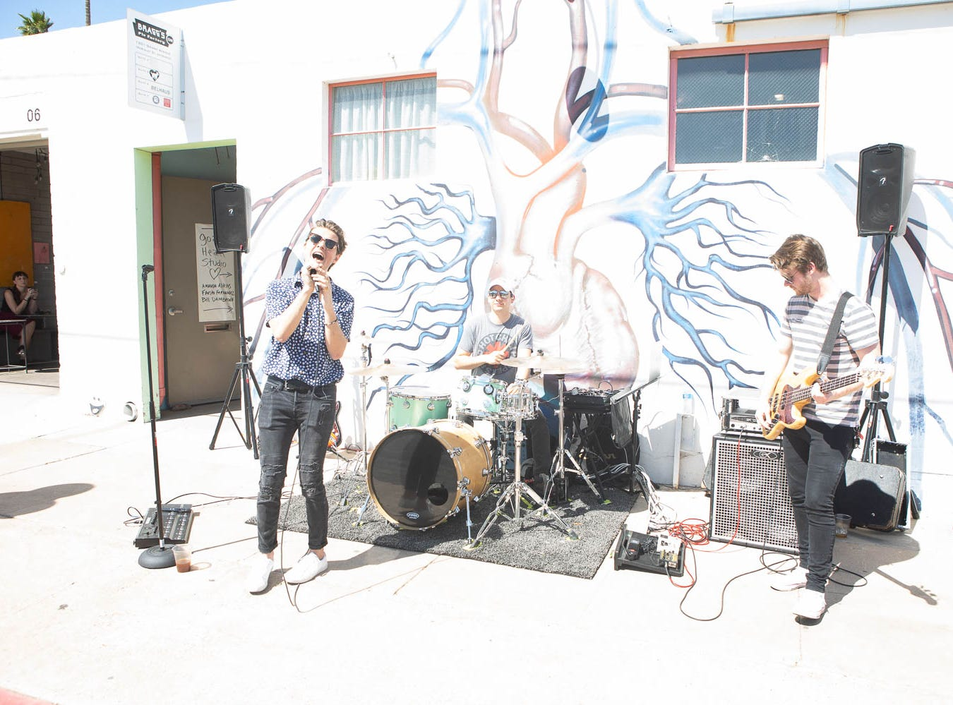 Musicians perform on Grand Avenue on March 16, 2019, in Phoenix during Art Detour.