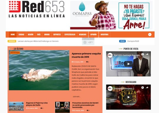 Santiago Barroso ran the online news site Red 653, which covered the city of San Luis Rio Colorado and the surrounding area. The website did not have any coverage of his death.