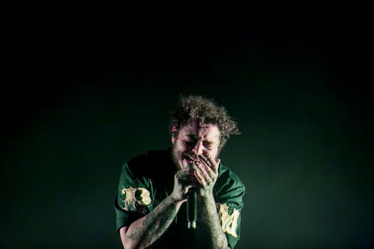 Post Malone performs at Pot of Gold Music Festival on Sunday March 17, 2019.