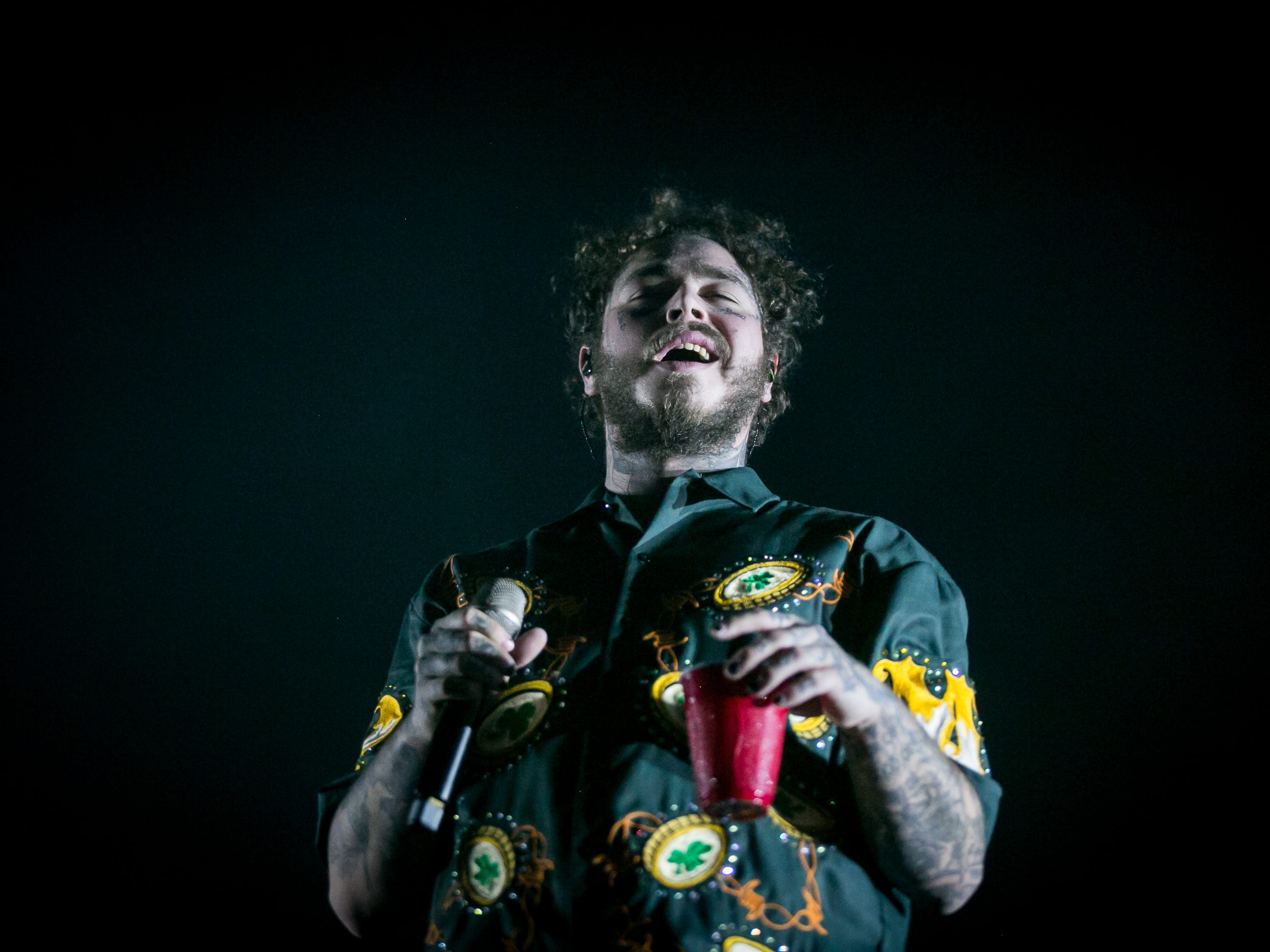 Post Malone performed at Pot of Gold Music Festival on Sunday, March 17, 2019.