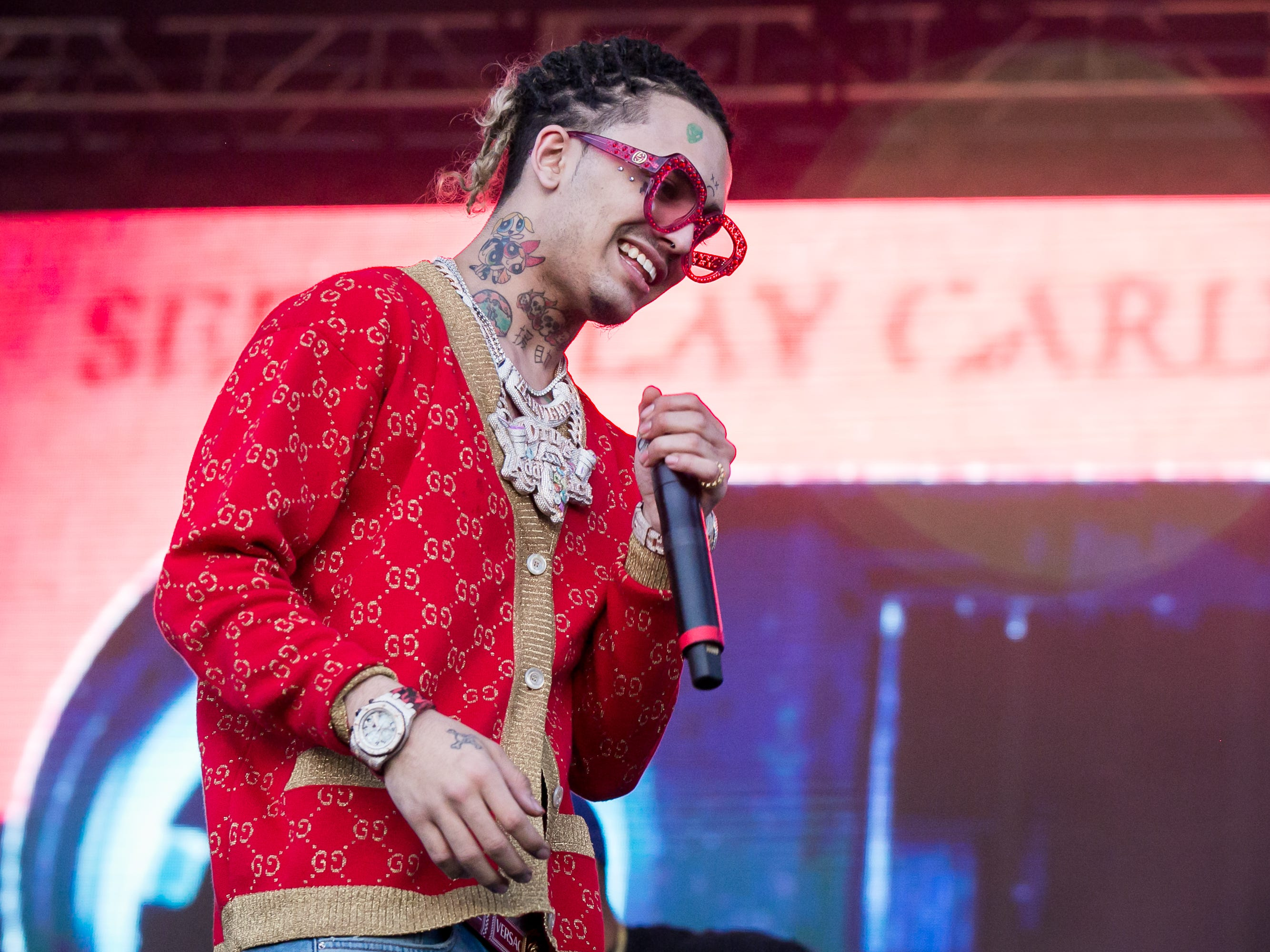Lil Pump performed at Pot of Gold Music Festival on Sunday, March 17, 2019.