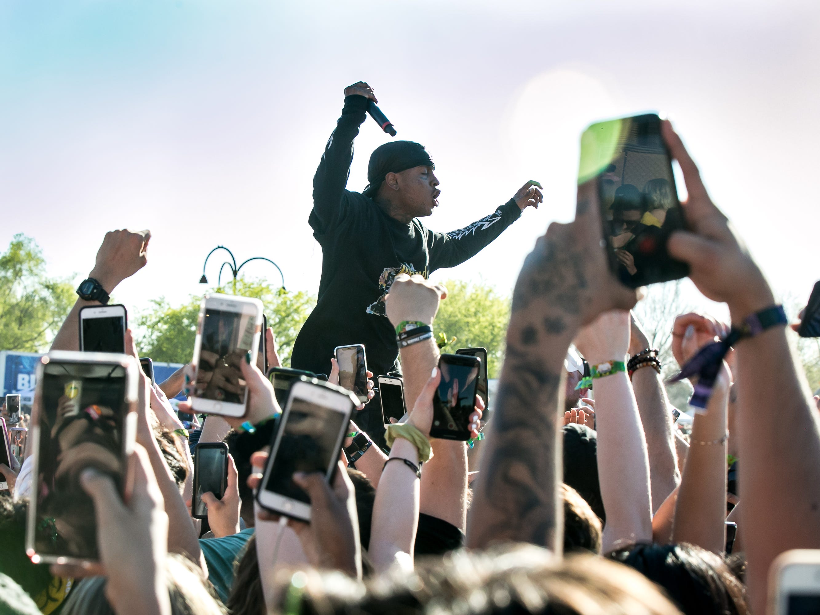 Ski Mask The Slump God performed at Pot of Gold Music Festival on Sunday, March 17, 2019.