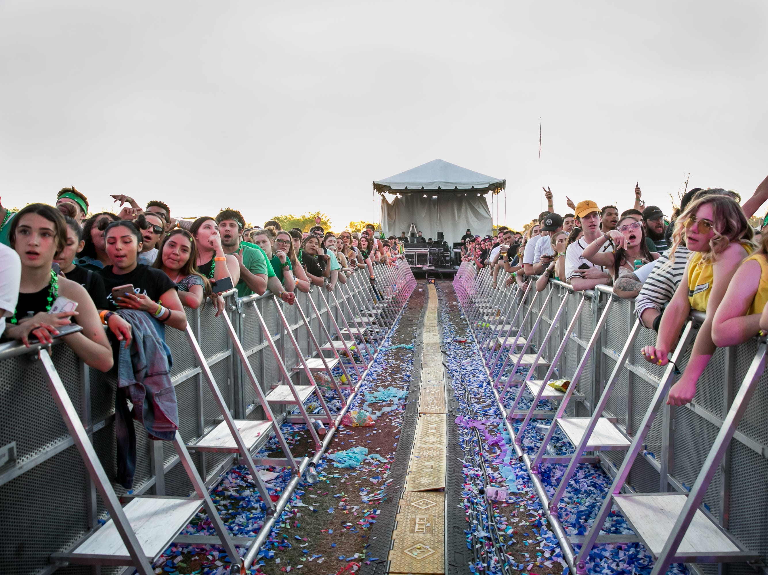 The center barricade was a cool addition during Pot of Gold Music Festival on Sunday, March 17, 2019.