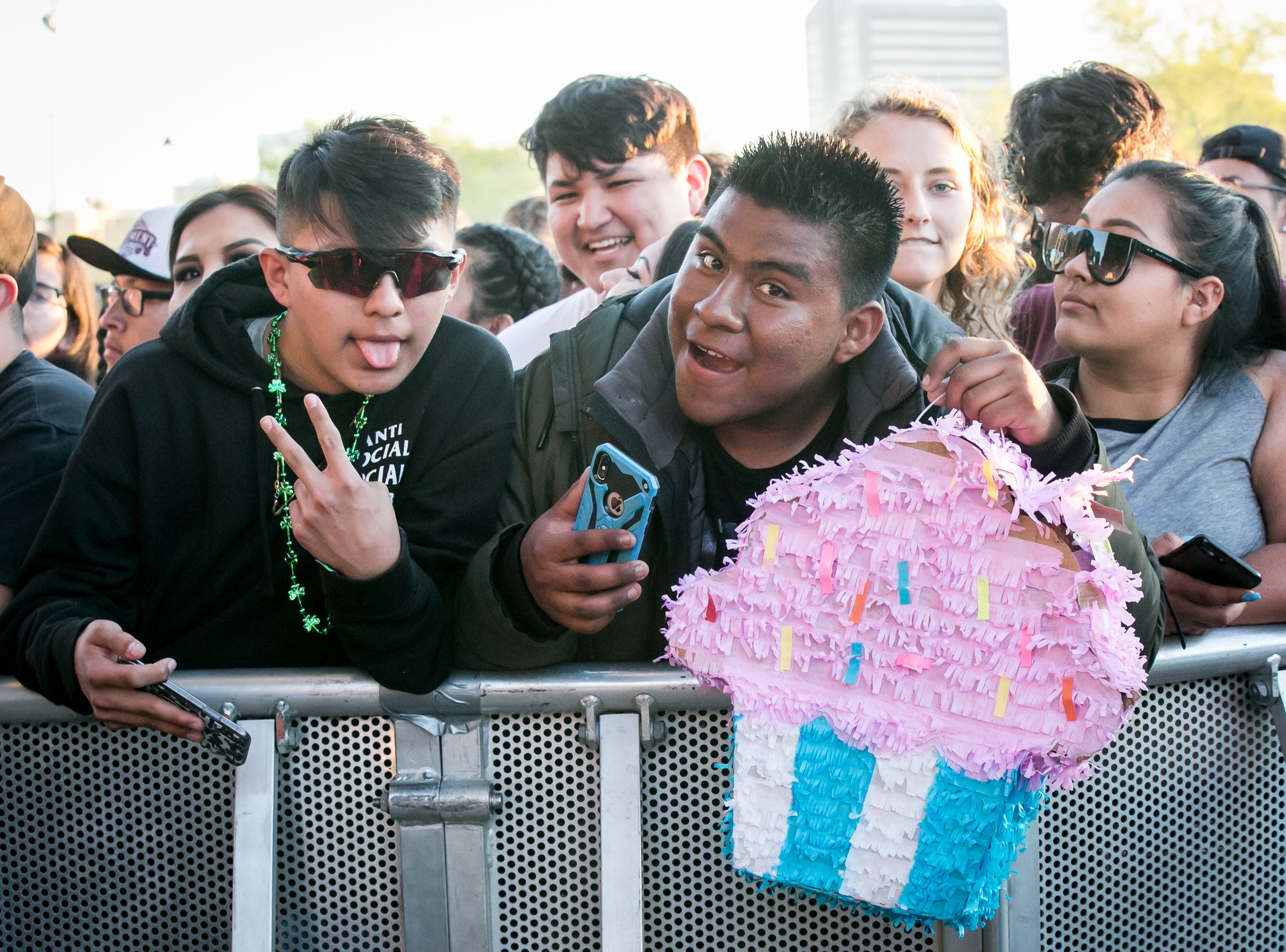 This cupcake pinata was everything during Pot of Gold Music Festival on Sunday, March 17, 2019.