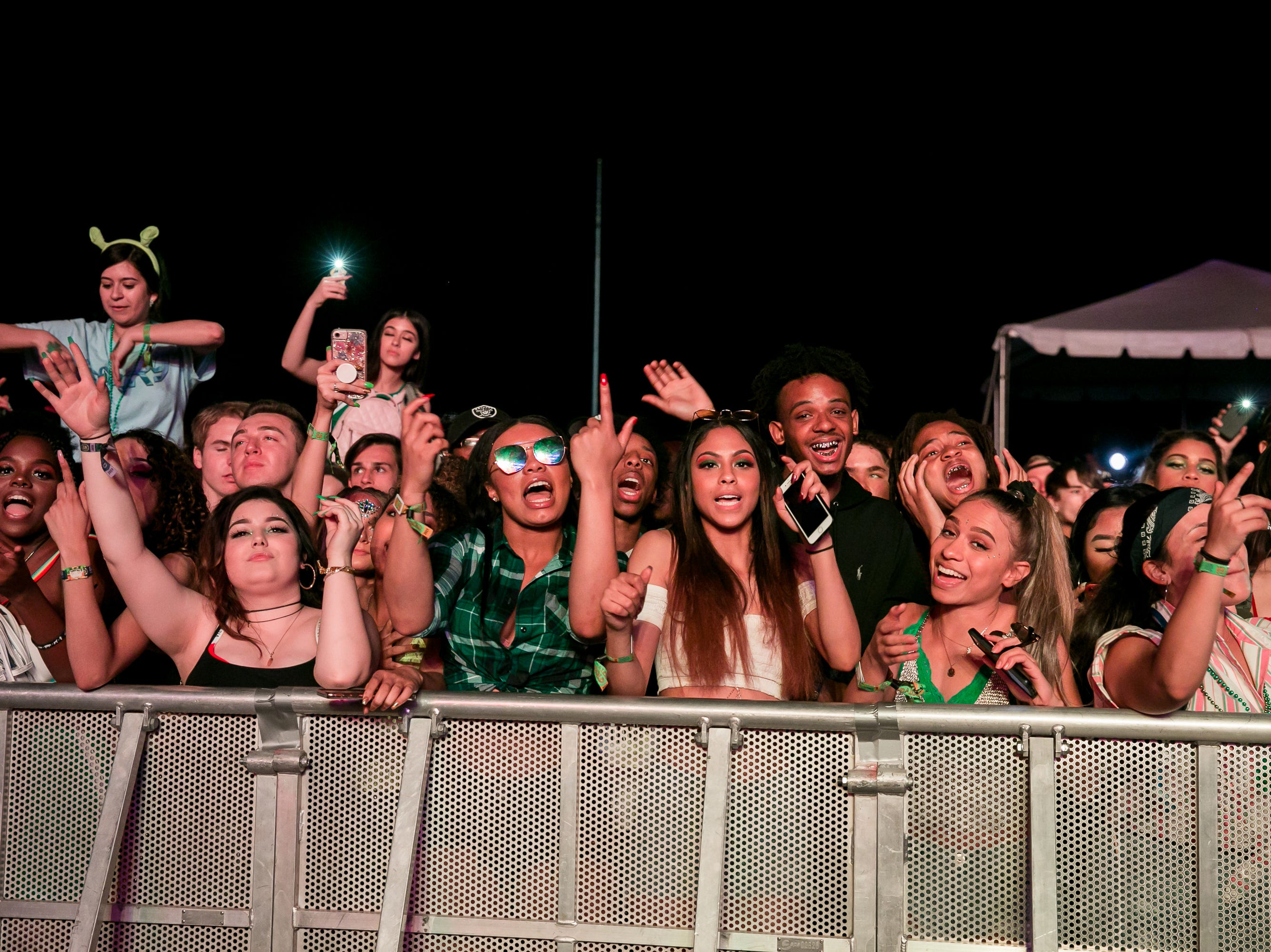 The crowd enjoyed Young Thug's set at Pot of Gold Music Festival on Sunday, March 17, 2019.