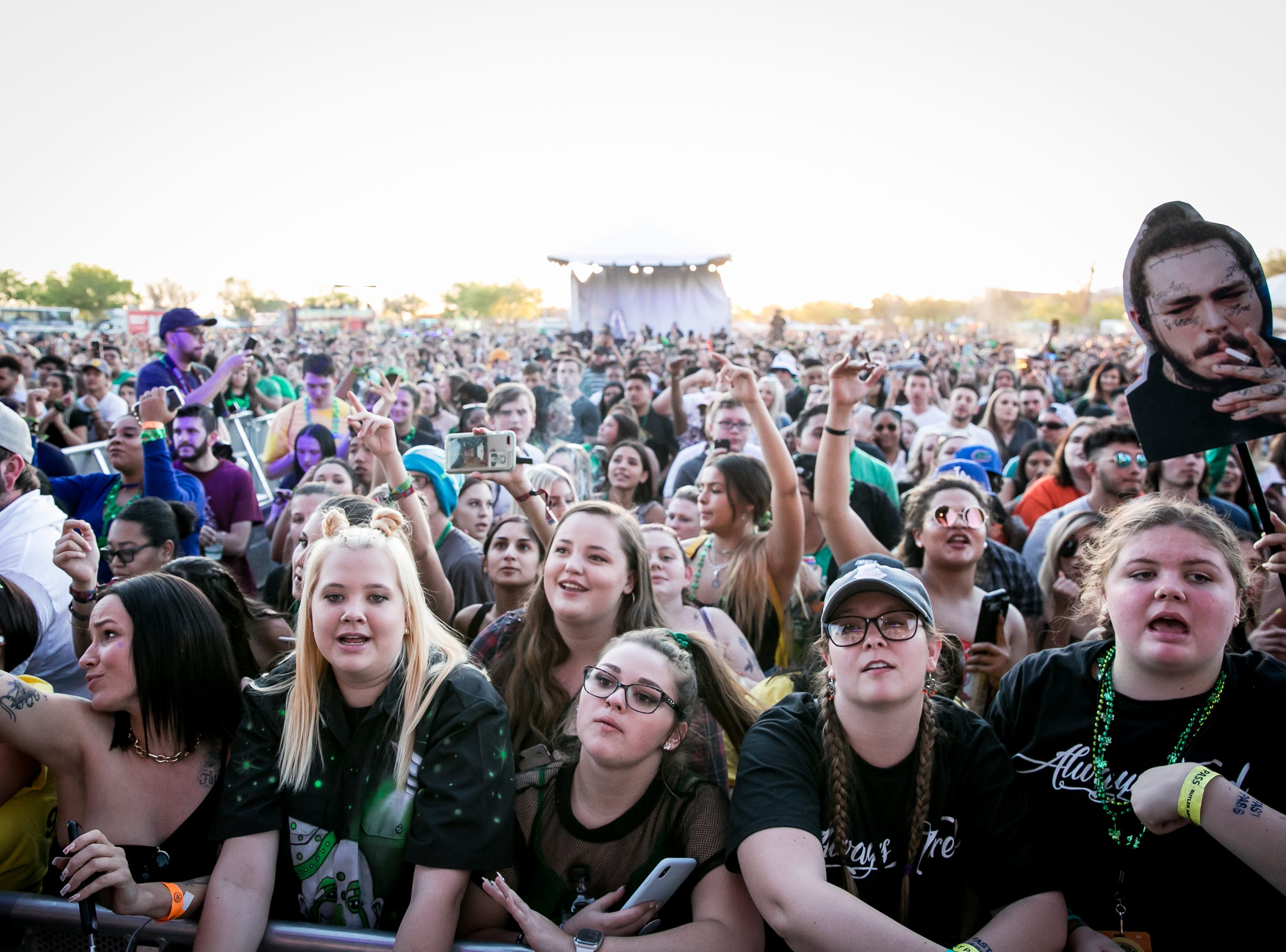 Fans couldn't wait to see Post Malone and Lil Pump at Pot of Gold Music Festival on Sunday, March 17, 2019.