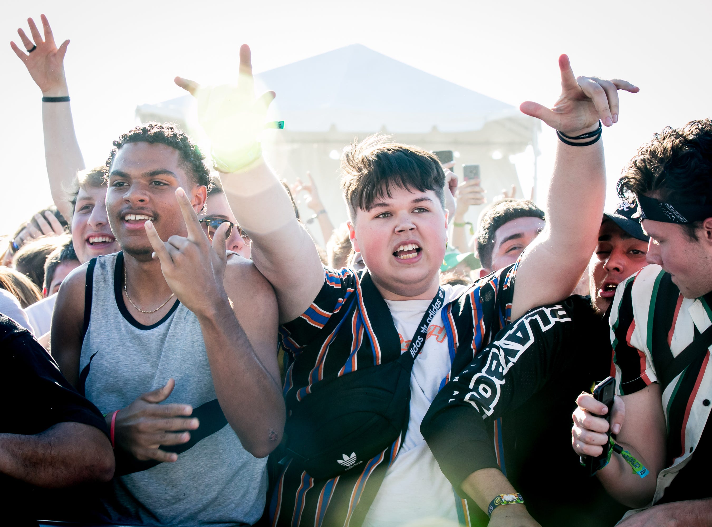 Fans went all out during Ski Mask The Slump God's set at Pot of Gold Music Festival on Sunday, March 17, 2019.