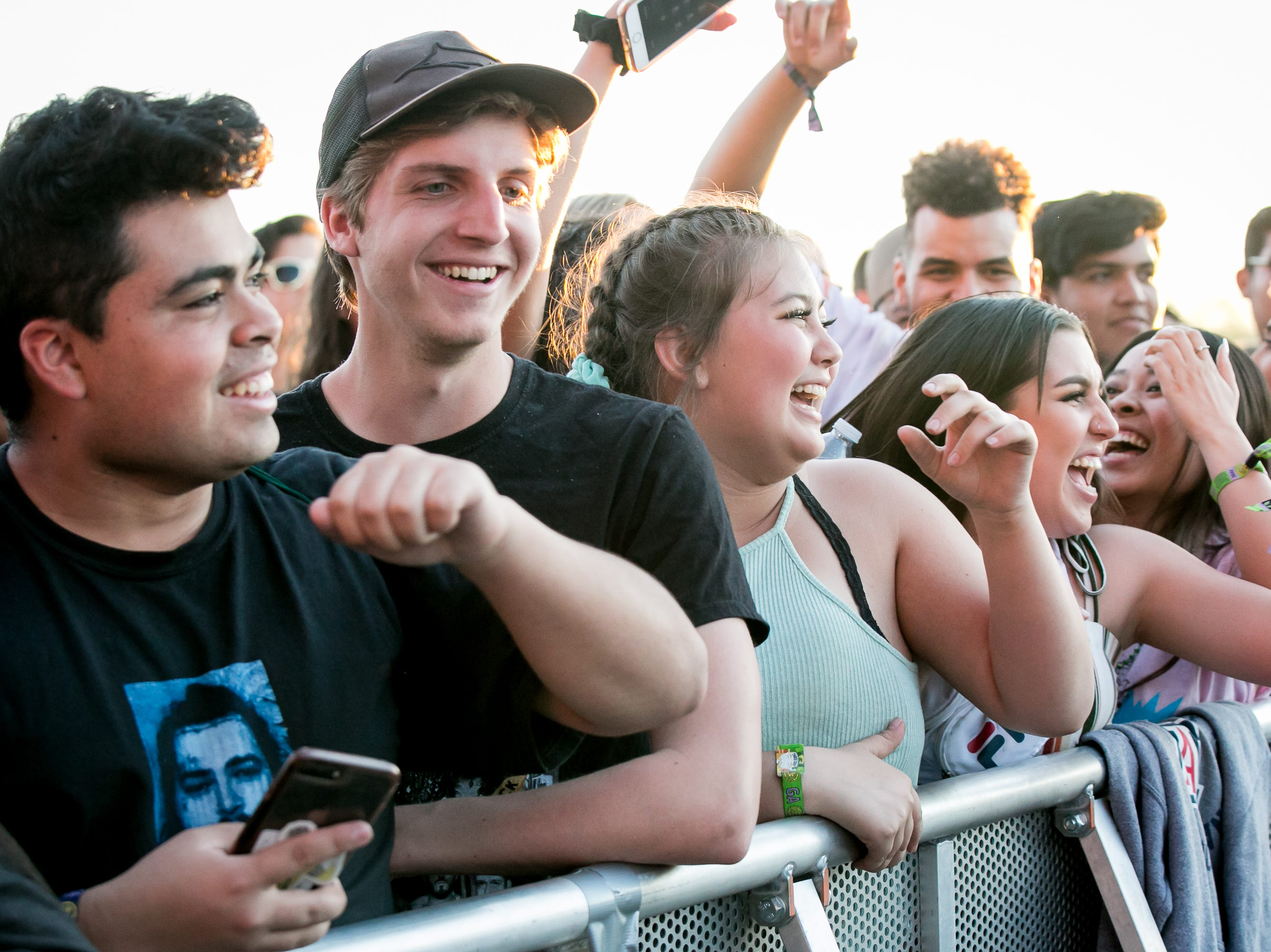Everyone was in good spirits before Lil Pump's set at Pot of Gold Music Festival on Sunday, March 17, 2019.